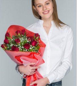 gül buketi-yenimahalle çiçek-kırmızı gül-ankara