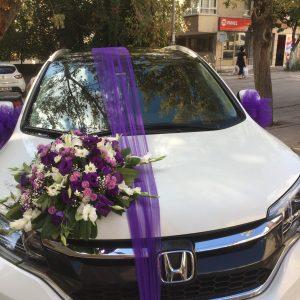 gelin-düğün-nikah arabası sülemesi yenimahalle çiçek