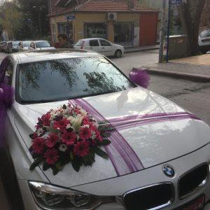 gelin arabası nikah arabası nişan arabası süslemesi-yenimahalle çiçek