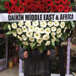 Ankara-Ortaköy camii mezarlığı-cenaze-çelengi